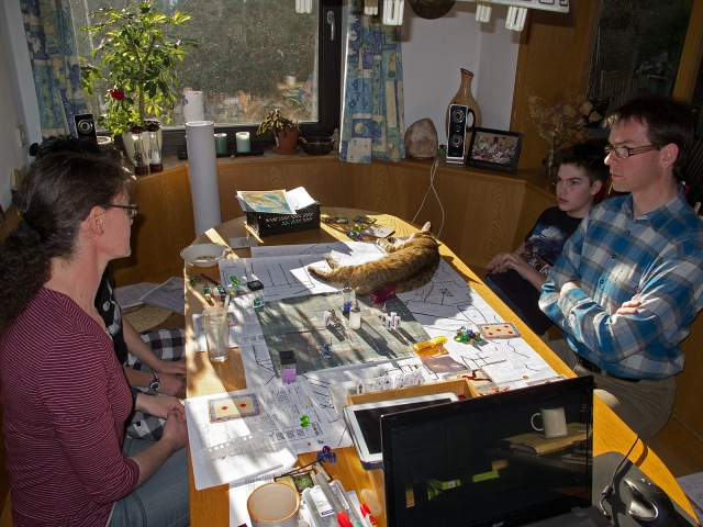At the gaming table